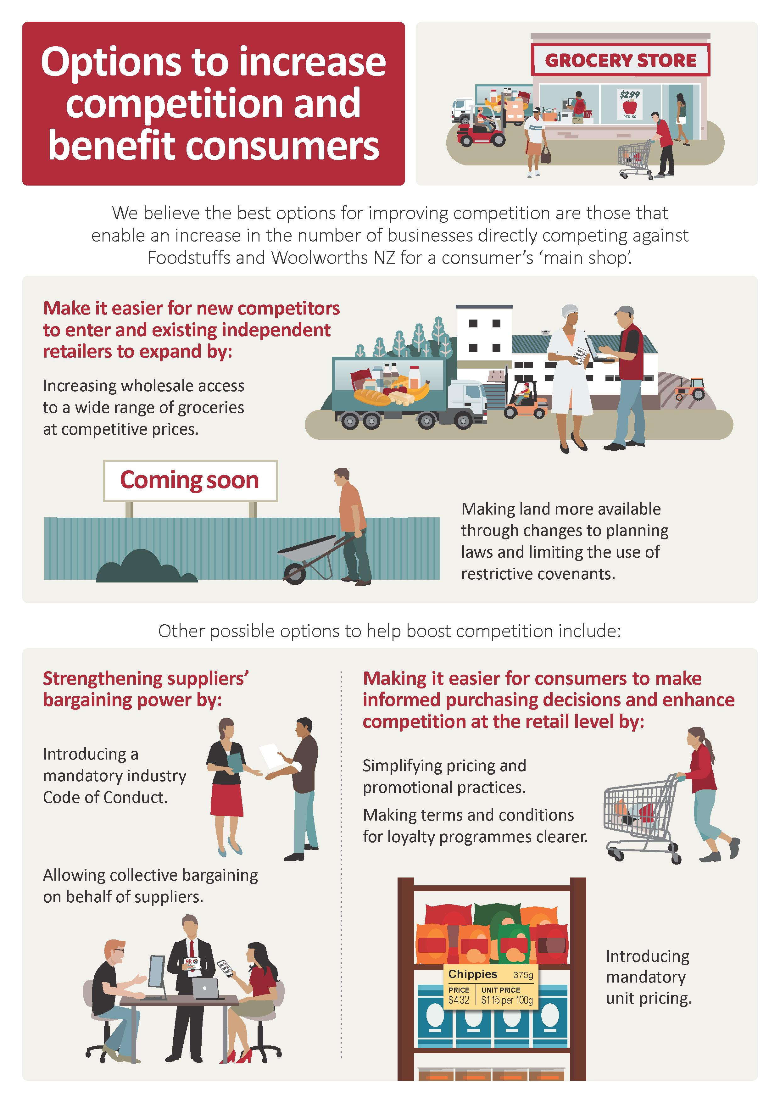Grocery sector market study – Options infographic