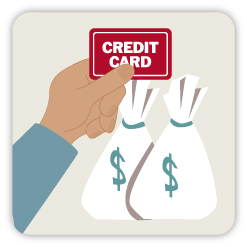 Borrowing money on credit